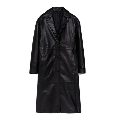 3BTN LONG COAT_ BLK