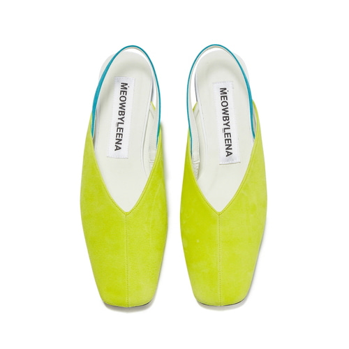 Square toe sling back (LIME)