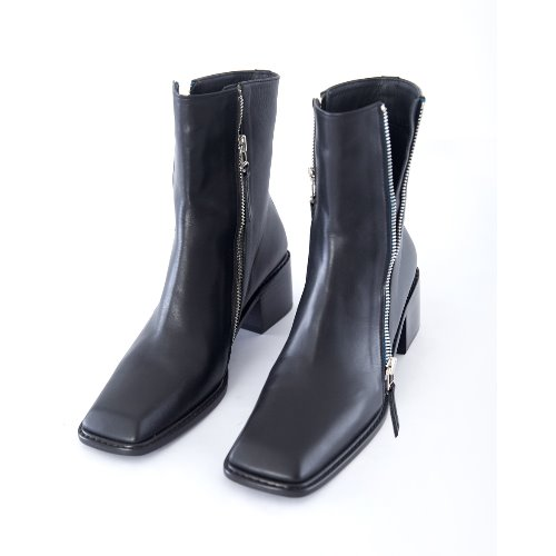 Squre toe Ankle Boots (black)