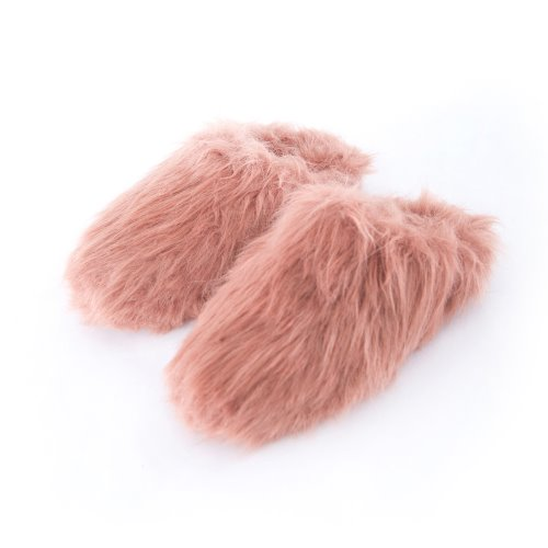 Fur Mule (Dusty Pink)