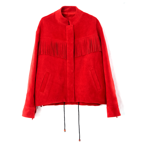 FRINGE DETAIL JK _ RED