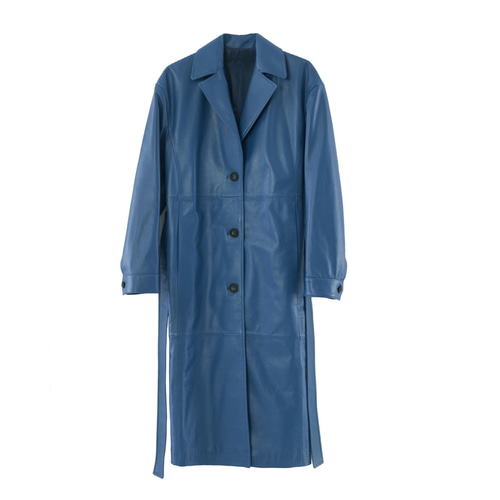 3BTN LONG COAT_ BLU