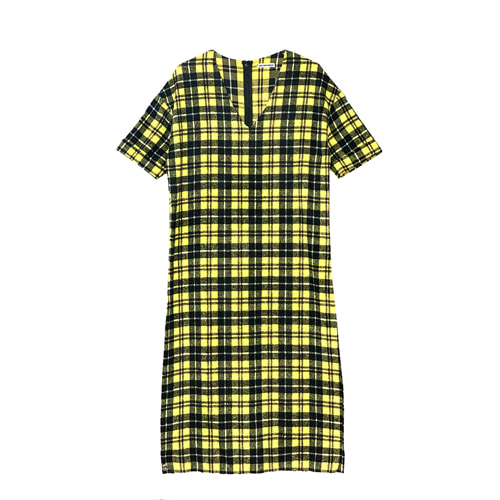 V-neck Check OPS [YELLOW]