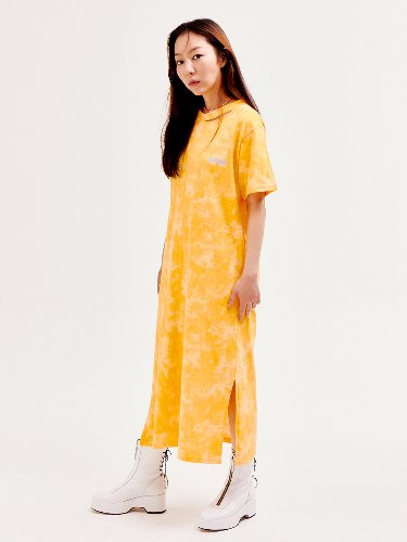 Tie-dye ripped hole OPS [Yellow]