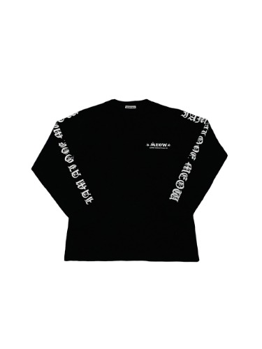 LETTERING LONG SLEEVE _ BLACK