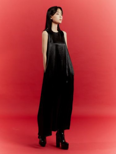 ALONE LONG DRESS _ BLACK