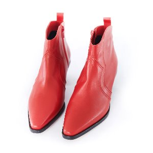 Western Short Boots (RED)