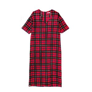 V-neck Check OPS [RED]