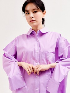 Over fit long shirts [PURPLE]