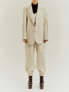 BLAZER JK _ IVORY (with BELT)