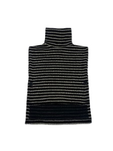 TURTLE NECK VEST _ BLACK