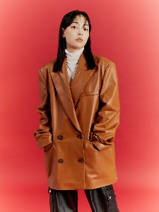 OVERSIZE DOUBLE BLAZER _ ORANGE